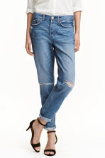 Boyfriend Low Ripped Jeans - Denim blue - Ladies | H&M CN 1