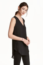 Crêpe blouse - Black - Ladies | H&M CA 2