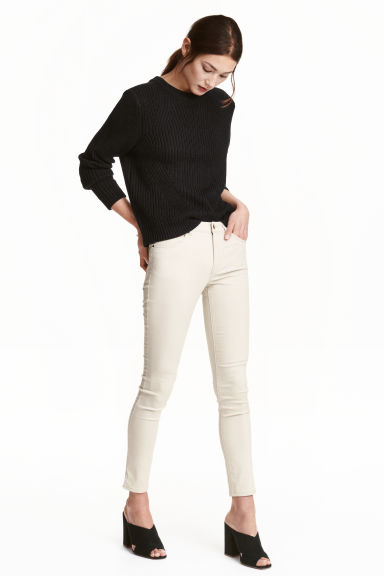 Stretch trousers - Light beige - Ladies | H&M CN 1