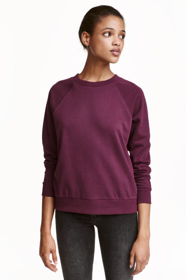 Sweatshirt - Plum - Ladies | H&M CN 1