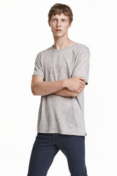 T-shirt - Grey marl - Men | H&M CN 1