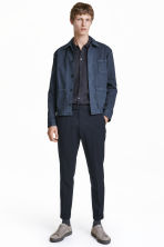 Cropped suit trousers - Dark blue - Men | H&M CN 1