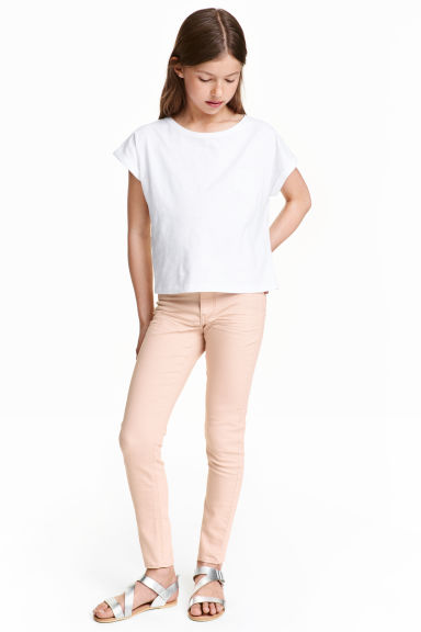 Stretch trousers - Powder pink - Kids | H&M CN 1