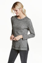 Sweatshirt with slits - Dark grey marl - Ladies | H&M CN 1