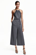 Patterned jumpsuit - Black/Spotted - Ladies | H&M CN 1