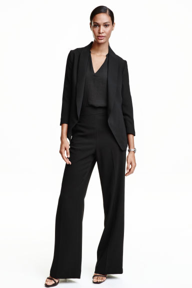 Wide suit trousers - Black - Ladies | H&M CN 1