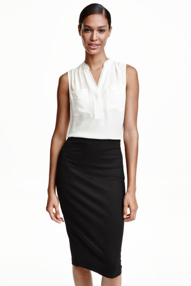 Sleeveless blouse - White - Ladies | H&M CN 1