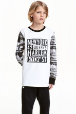 Printed top - White/New York - Kids | H&M CN 1