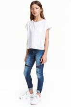 Skinny Fit Jeans with sequins - Denim blue -  | H&M CN 1