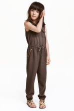 Sleeveless jumpsuit - Dark mole - Kids | H&M CN 1