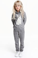 Printed sweatpants - Grey/Spotted -  | H&M CN 1