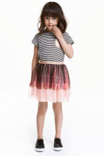 Tulle skirt - Dark mole/Feathers - Kids | H&M CN 1