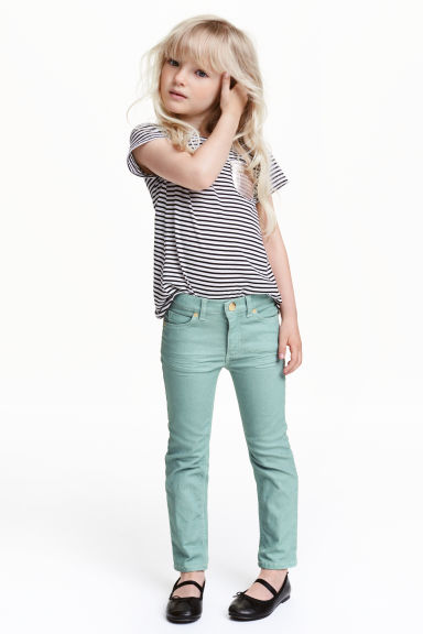 Stretch trousers - Mint green - Kids | H&M CN 1