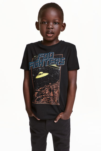 Printed T-shirt - Black/Foo Fighters - Kids | H&M CN 1