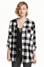 Flannel shirt - Black - Ladies | H&M CN 1