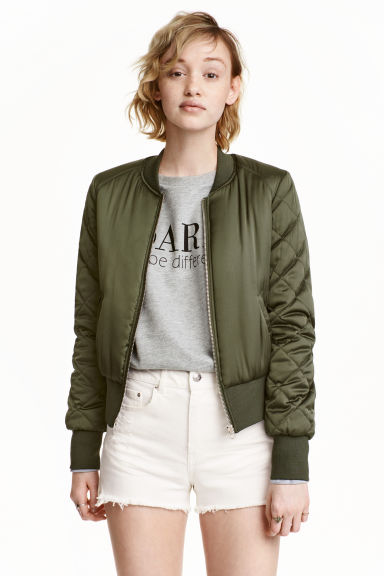 Bomber jacket - Khaki green - Ladies | H&M GB 1