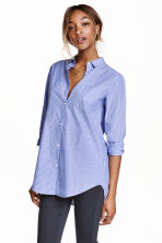 Cotton shirt - Blue/Striped - Ladies | H&M CN 1