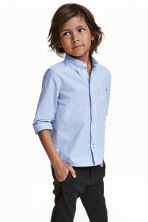 Cotton shirt - Lt.blue/Narrow strip - Kids | H&M CN 1