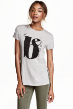 T-shirt con stampa - Light grey marl - DONNA | H&M IT 1