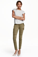 Cargo pants in a lyocell blend - Khaki green - Ladies | H&M CN 1