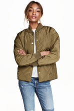 Quilted jacket - Khaki green -  | H&M CN 1