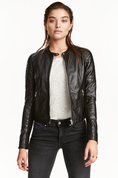 Biker jacket - Black - Ladies | H&M GB