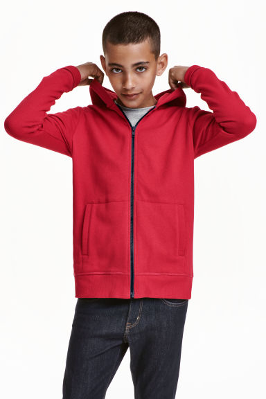 Hooded jacket - Red - Kids | H&M CN 1