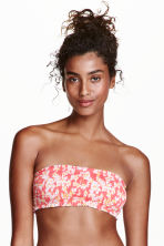 Bandeau bikini top - Pink/Patterned - Ladies | H&M CN 1