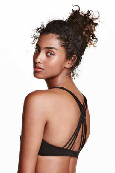 Triangle bikini top - Black - Ladies | H&M CN 1