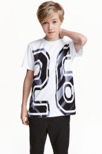 Short-sleeved sports top - White - Kids | H&M CN 1