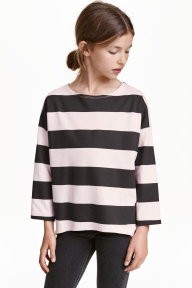 Jersey top - Light pink/Striped - Kids | H&M
