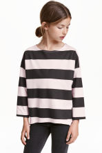 Jersey top - Light pink/Striped - Kids | H&M CN 1