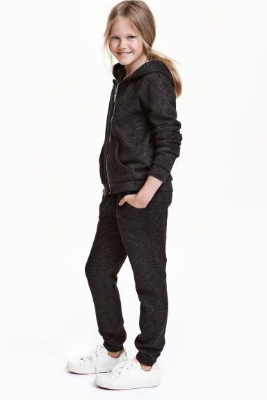 Sweatpants - Black marl - Kids | H&M 1