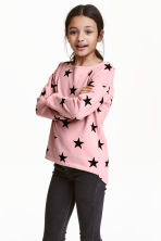 Sweatshirt - Dusty pink/Stars - Kids | H&M CN 1