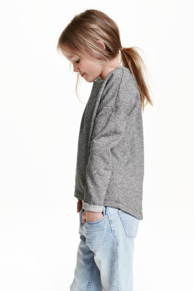 Sweatshirt - Grey marl - Kids | H&M CA 1