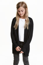 Jersey cardigan - Black - Kids | H&M CN 1