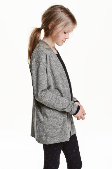 Jersey cardigan - Dark grey marl - Kids | H&M CN 1