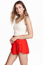 Shorts con volant - Rosso - DONNA | H&M IT 1
