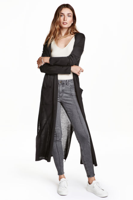 Ankle-length cardigan