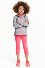 3/4-length sports tights - Coral marl - Kids | H&M CN 1