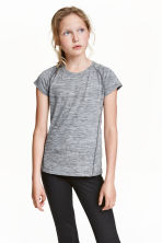 Sports top - Dark grey marl - Kids | H&M CN 1