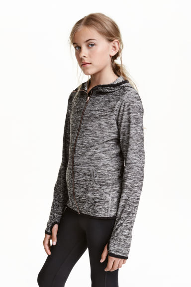 Sports jacket - Dark grey marl - Kids | H&M CN 1