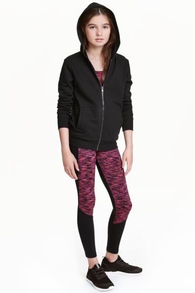 Sports tights - Pink marl - Kids | H&M CN