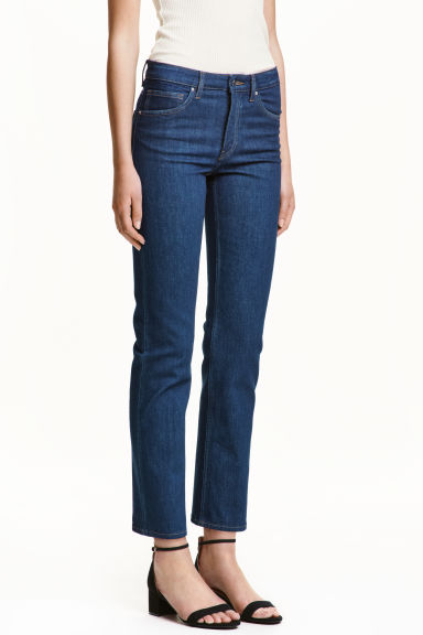 Straight Regular Ankle Jeans - Blu denim scuro - DONNA | H&M IT 1