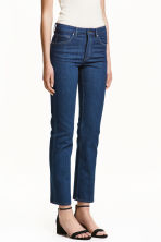 Straight Regular Ankle Jeans - 深牛仔蓝 - 女士 | H&M CN 1
