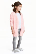 Fluffy cardigan - Light pink - Kids | H&M CN 1