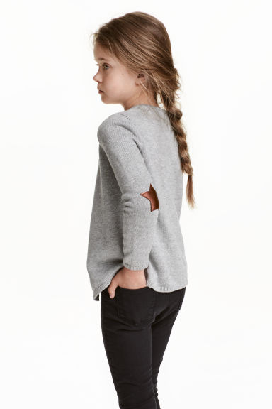 Wrapover cardigan - Grey marl - Kids | H&M CN 1
