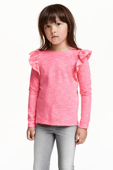 Frilled top - Light pink - Kids | H&M CN 1
