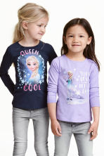 2-pack printed jersey tops - Dark blue/Frozen - Kids | H&M CN 1