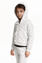 Hooded jacket - Light grey/Spotted -  | H&M CN 1